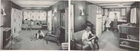 Fleetwood Travel Trailers Floor Plans mobile home kitchens from 1955 to 1960