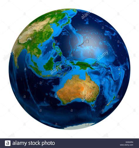 australia globe map earth globe showing oceania australia indonesia papua