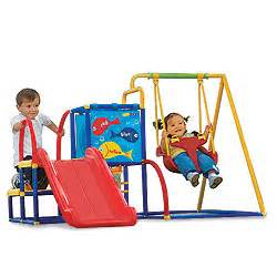 Big Backyard Swing Set Reviews Eezy Peezy Toddler Swing And Slide Super Cool Baby