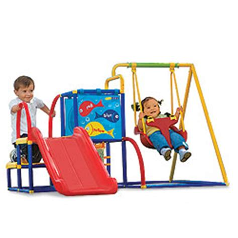 Toddler Swing Set Eezy Peezy Toddler Swing And Slide Cool Baby