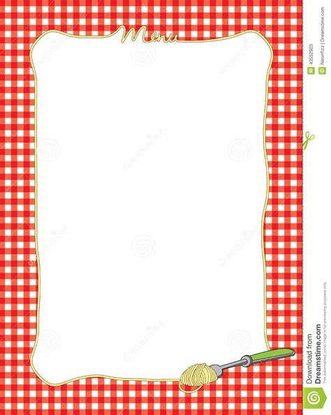 Kitchen Design Program Free by Pasta Themed Menu Frame Stock Illustration Image 43552903