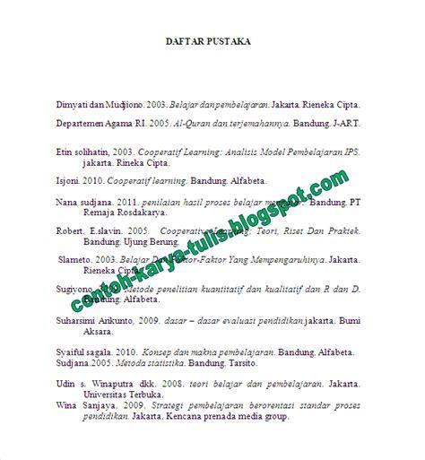 format penulisan daftar pustaka menurut eyd penulisan daftar pustaka karya tulis