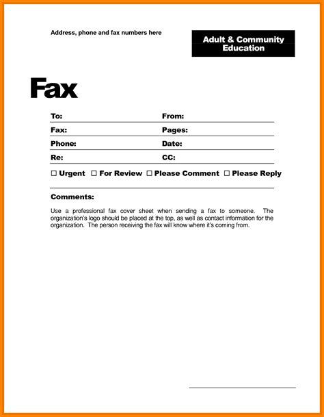 Fax Cover Letter Word Template 8 fax cover sheet template microsoft word land scaping