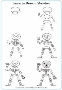 learn doodle drawing learn to draw a skeleton