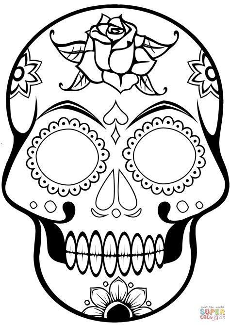 sugar skull coloring page stormtrooper sugar skull coloring pages coloring pages