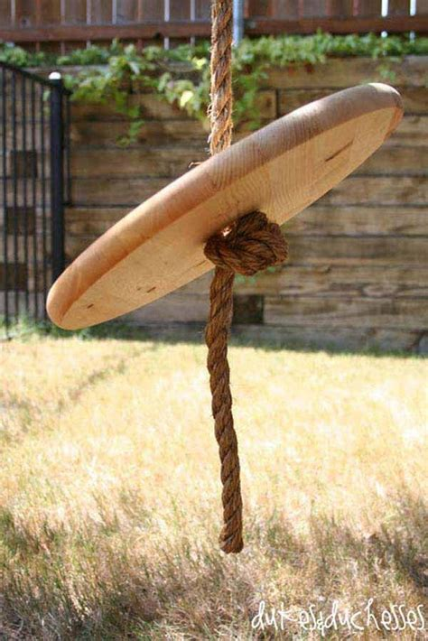 how to make a single rope tree swing amazingly diy patio and garden swings