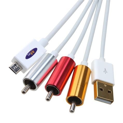 Usb Rca mhl micro usb to rca hdtv adapter av cable white