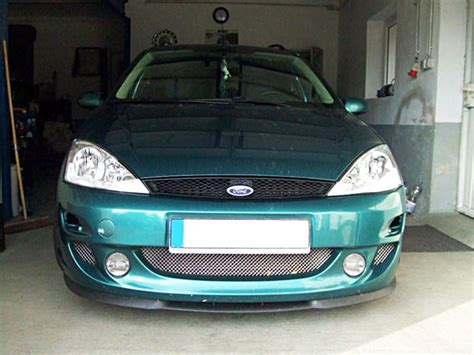 ford focus mk  front bumper cup chin spoiler lip sport