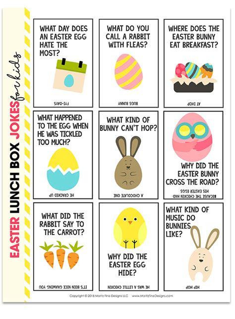 printable easter lunch box jokes easter lunch box jokes for kids free printable download