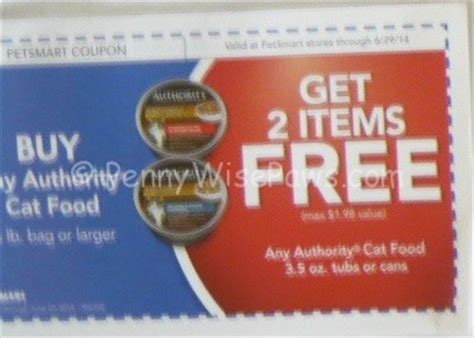 authority food coupon petsmart coupon alert authority cat food as low as 84 cents bag food 1 69