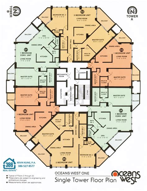 oceans west floor plans daytona beach shores condos