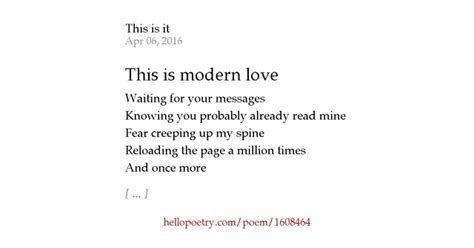 this modern love this is modern love by heatherbeth hello poetry
