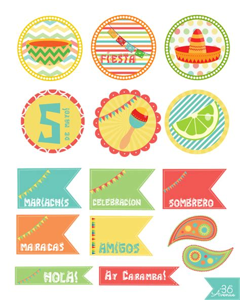 free printable party kits decorations the 36th avenue fiesta party kit printable the 36th avenue