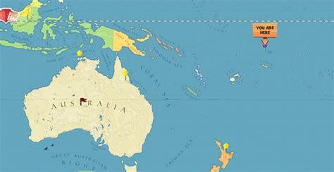 location of samoa on world map tokelau