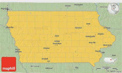 united states map iowa savanna style 3d map of iowa