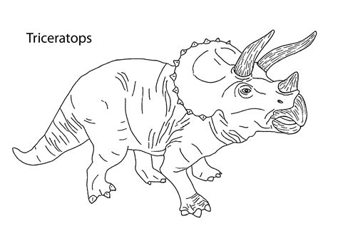free dinosaur coloring pages dinosaur coloring pages triceratops coloring