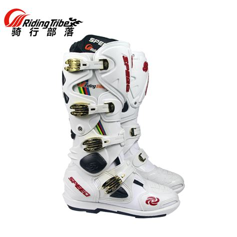 Big Promo Gordon Motocross Shoes Black motorcycle boots pro biker speed bikers motocross leather knee high shoes white black moto