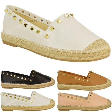 Summer Shoes womens slip on flat espadrilles summer shoes stud