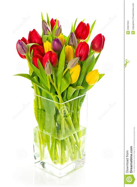 colorful spring flowers bouquet colorful bouquet of fresh spring tulip flowers stock