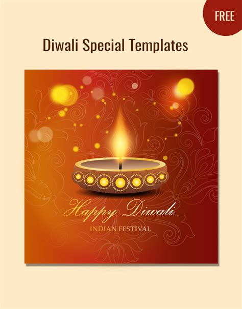 Free Diwali Cards Templates by Diwali Vector Template