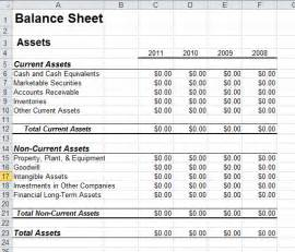 Balance Sheet Template Excel by Balance Sheet Template In Excel