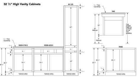 kitchen cabinet specifications standard 32 5h aristokraft