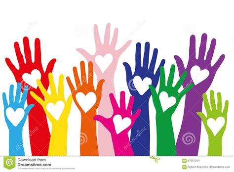imagenes de simbolos con las manos manos coloridas con un s 237 mbolo del amor formado como