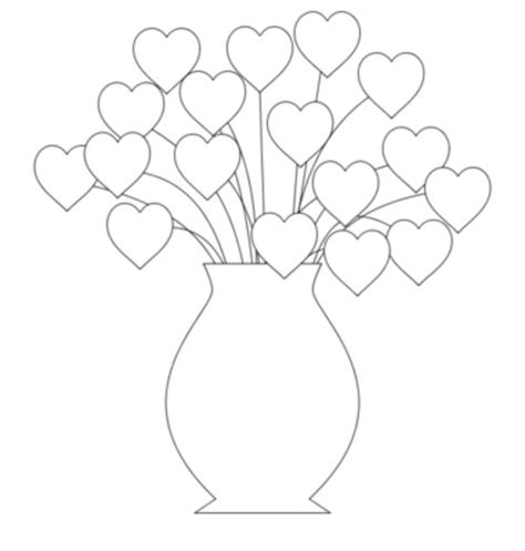 hearts flowers coloring pages for kids gt gt disney coloring