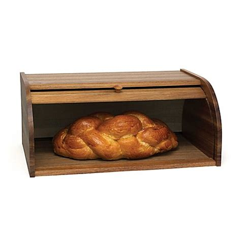 bed bath and beyond bread box lipper acacia rolltop bread box bed bath beyond