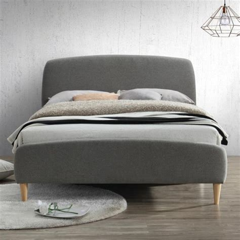 birlea quebec upholstered grey small double bed furniture123