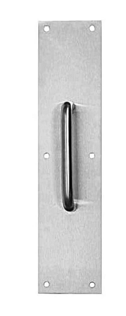 buy stainless steel finish door pull handle in buy the tell mfg dt100067 door pull plate satin stainless steel finish 3 1 2 quot w x 15 quot l