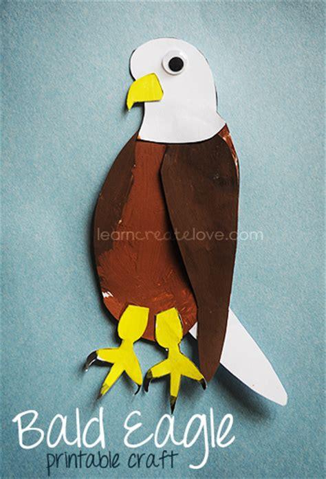 Bald Eagle Papercraft - printable bald eagle craft