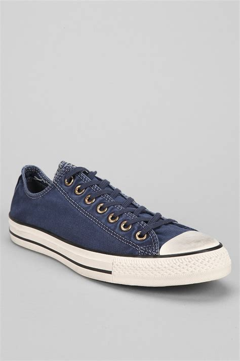 Sepatu Converse Low Navy Sneakers Original Premium 3 Warna Size 37 43 converse chuck all washed lowtop mens sneaker