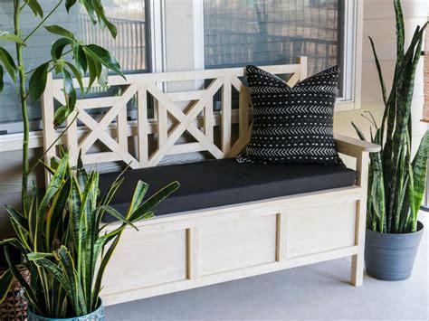 build  outdoor bench  storage hgtv