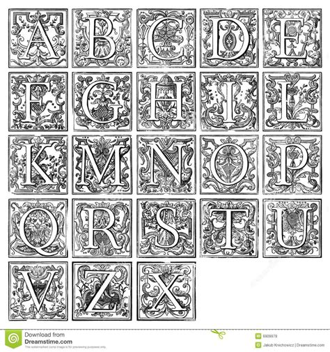 illuminated alphabet templates 16th century images search letters