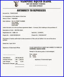 vehicle repossession letter template car repossession letter sle pictures inspirational