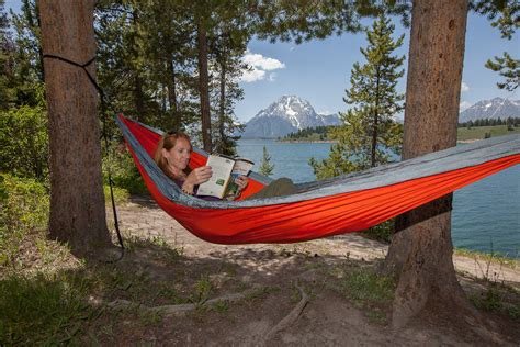 Hammock Edge Mountain reading book in eno hammock wyoming bret edge photography