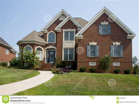 custom brick home royalty  stock photography image