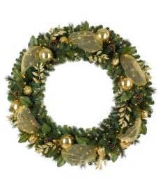 golden treasures artificial christmas wreath tree classics