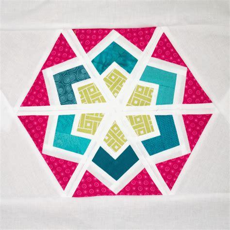 Hexagon Block by Purple Panda Quilts 3x6 Hexagon Blocks