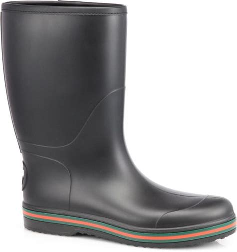 black gucci boots for gucci rubber boots in black for lyst