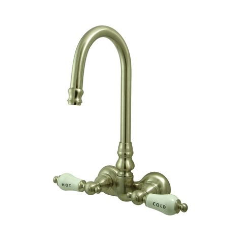 Clawfoot Tub Filler Faucet by Shop Elements Of Design Springs Satin Nickel 2 Handle Handle Fixed Clawfoot Tub Filler
