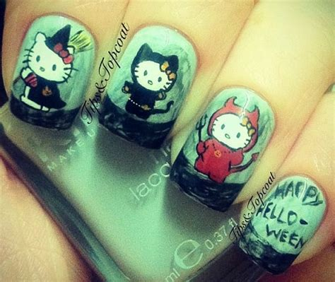 imagenes de uñas decoradas para halloween u 241 as decoradas de hello kitty para halloween