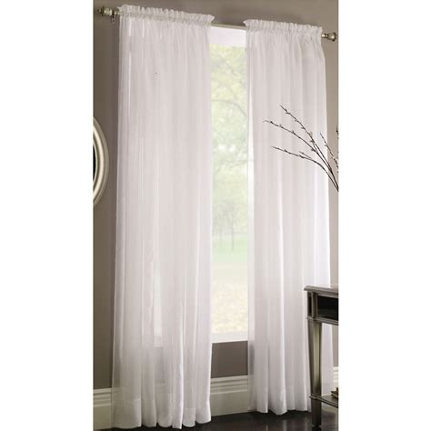 Sheer Bedroom Curtains shop style selections chloe 84 in white polyester rod