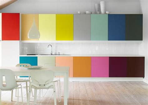 Modern Kitchen Cabinet Colors | rainbow designs 20 colorful home decor ideas