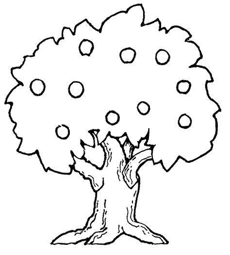Apple Tree Mormon Coloring Pages Clipart Best Apple Tree Coloring Page