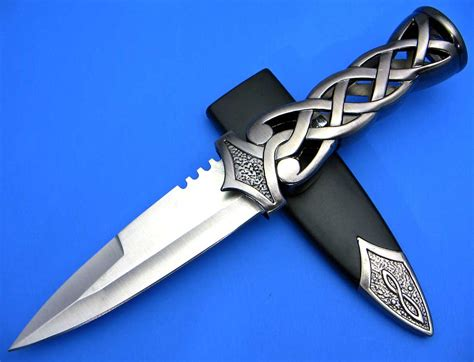 dagger blade scottish dirk blue celtic dagger blade knife new ebay
