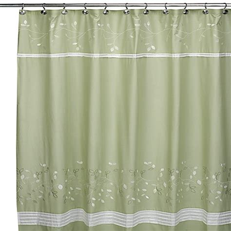 spring shower curtain spring lake fabric shower curtain bed bath beyond