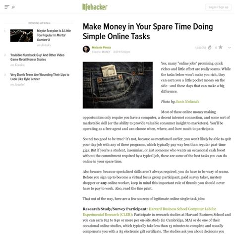 Online Tasks To Make Money - make money in your spare time doing simple online tasks pearltrees