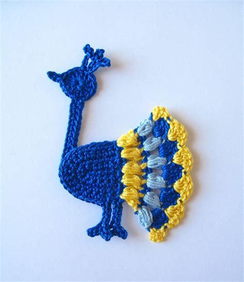 peacock applique peacock applique crochet pattern pattern by